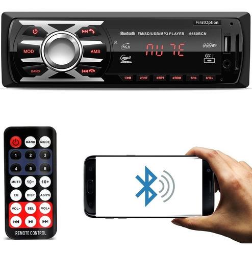Aparelho Auto Radio Automotivo Mp3 1 Din Bluetooth Som Usb