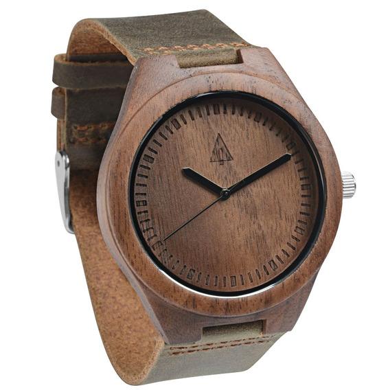 Reloj Treehut De Madera De Nogal Chocolate Para Hombre Co
