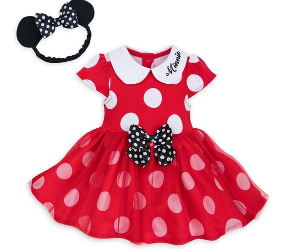 Vestido Minnie Mouse C/ Tiara 12-18m- Original Disney Store