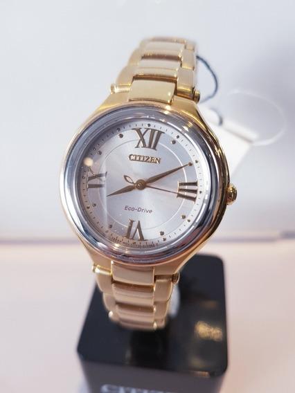 Relógio Feminino Dourado Eco-drive Citizen