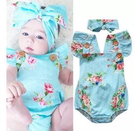 Body Bebê Menina Macacão Jardineira Infantil Frutas Abacaxi