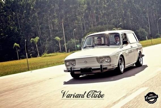 Vw Variant 1976 - Placa Preta