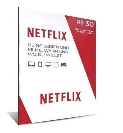 Cartao Pre-pago Netflix
