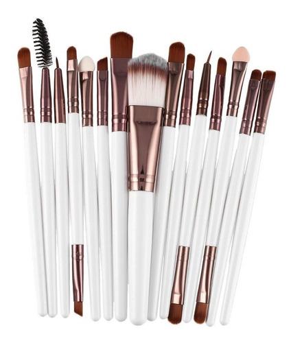Imagen 1 de 10 de 15pcs/kit Set De Brochas De Maquillaje Cosméticos Maquillaj