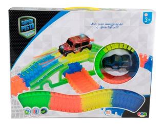 R2801 Pista Fluorescente 150 Pcs Com Carrinho / Bbr