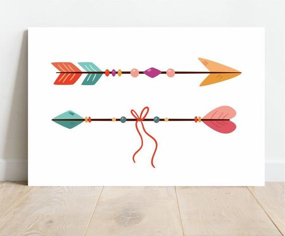 Placa Decorativa Em Mdf Flechas 20x30cm