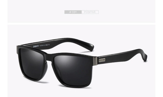 Óculos De Sol Dubery 100% Original Polarizado Uv400 Black