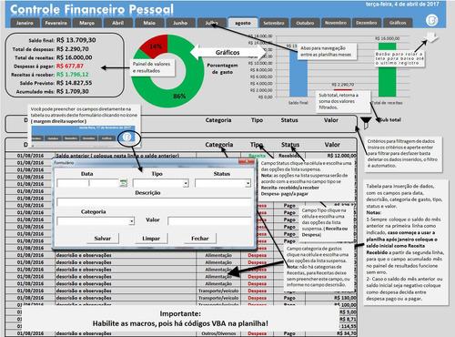 Imagem 1 de 1 de Controle Financeiro Pessoal