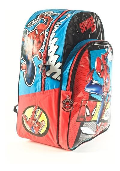 Mochila Spiderman 16 Pulgadas Espalda Wabro 62302