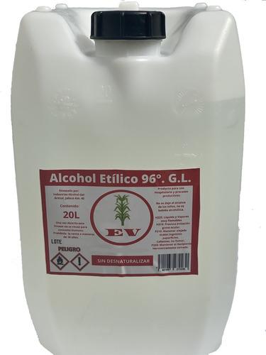 Imagen 1 de 9 de Bidon 20 L Alcohol 96° Puro De Caña. Gratis Envío Todo Mx.