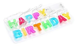 Letrero Guirnalda Happy Birthday Luz Cumpleaños Insh-7204