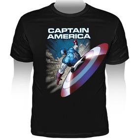 Camiseta Marvel Captain America Mv34 Stamp Capitão América