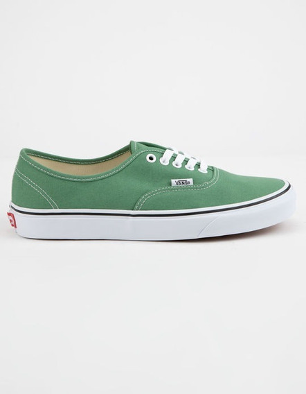 Zapatillas Vans Authentic Verde Con Vivo Verde