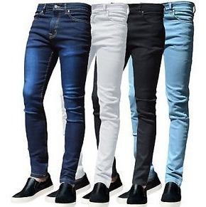 Jeans Hombre Chupin Elastizados Talles 26 Al 46