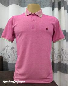0f070491b8dc3 Camisa Polo Esquadra U - Pólos Manga Curta para Masculino Rosa com o ...