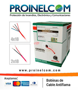 Cable Antiflama 4x18 Solido Americano Ul