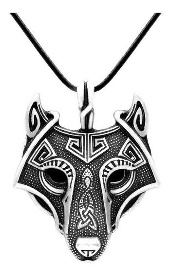 Colar Pendente Lobo Raposa Viking Nórdico Thor Odin Fenrir