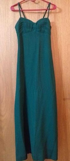 Vestido De Fiesta Largo Verde Oscuro