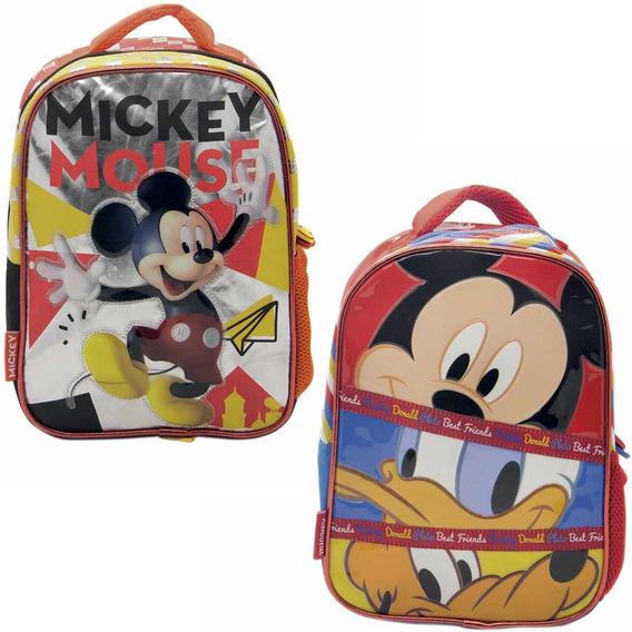 Mochila Espalda Jardin 12¨ Original Mickey Mouse Jiujim