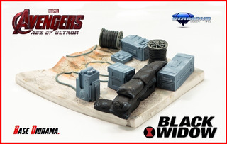 Black Widow: Age Of Ultron (base Diorama) Diamond Select.