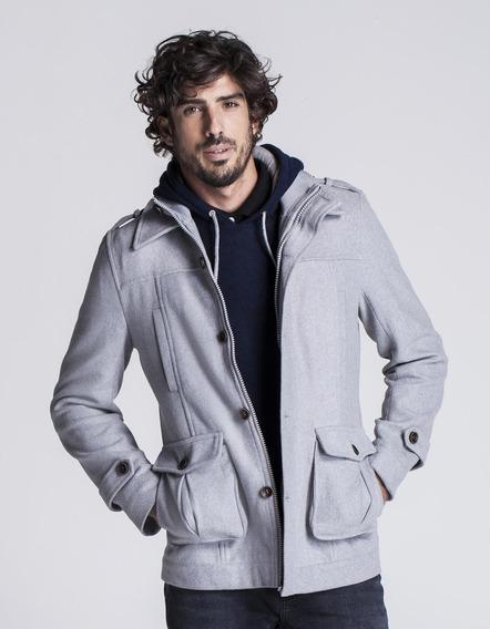 Casaco Masculino Lã Mista Gola Duplamesc Gelo
