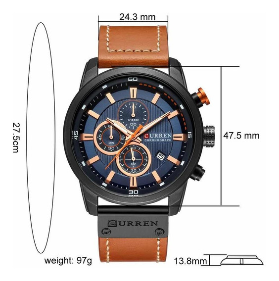 Relógio Social Pulseira De Couro 8291 Original Com Garantia