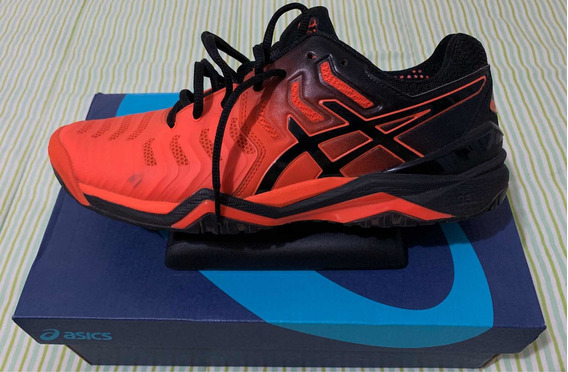 Tênis Asics Gel Resolution 7 Laranja/preto