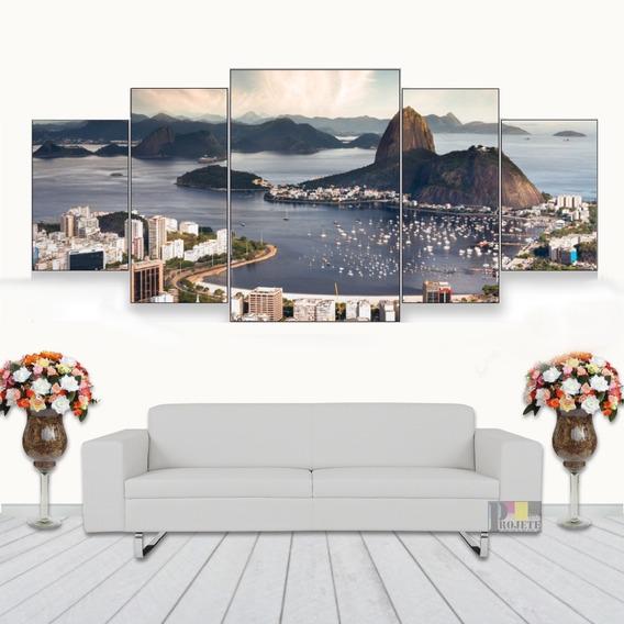 Quadros Decorativo Rio De Janeiro Mar 128x60 Lindo N03