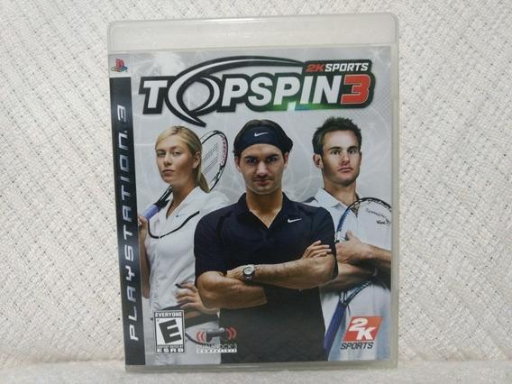 Jogo Ps3 Top Spin 3 Mídia Física
