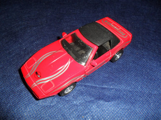 Miniatura Corvette - Welly - No Estado - Pneus Ruins