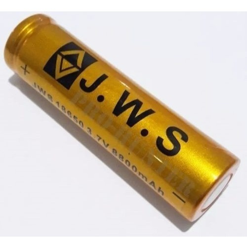 Carregador Bivolt + Bateria 18650 3.7v Jws Lanterna Tática
