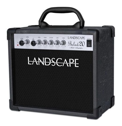 Amplificador Guitarra E Voz 20w Cubo Landscape Balad 20