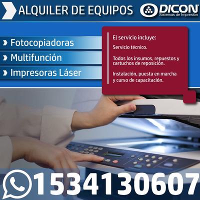 Alquiler De Fotocopiadoras, Multifunción E Impresoras Láser.