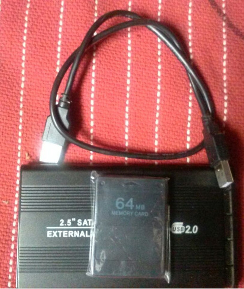 Hd 500 Gb Para Ps2 Mais Memory Card 64 Mb Com Opl