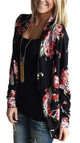 E Kimono Cardigans Casual Coverup Coat Tops Outwear S-3xl, N