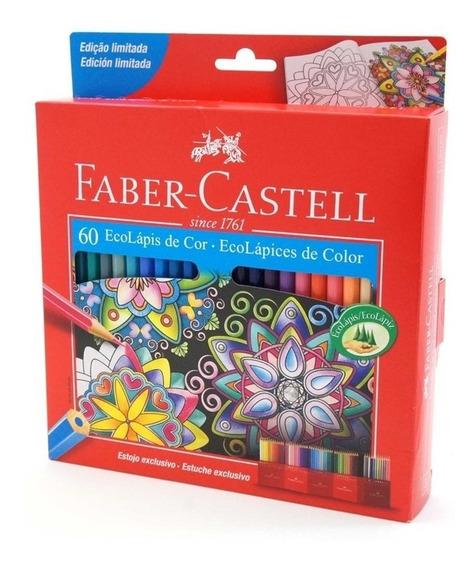 Lápices Faber Castell Eco Lápiz X 60 Colores Estuche Cartón