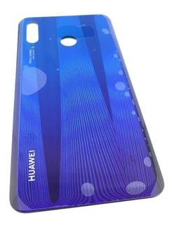 Tapa Trasera Huewei P30 Lite Azul Mar-lx3 Original + Adhesiv