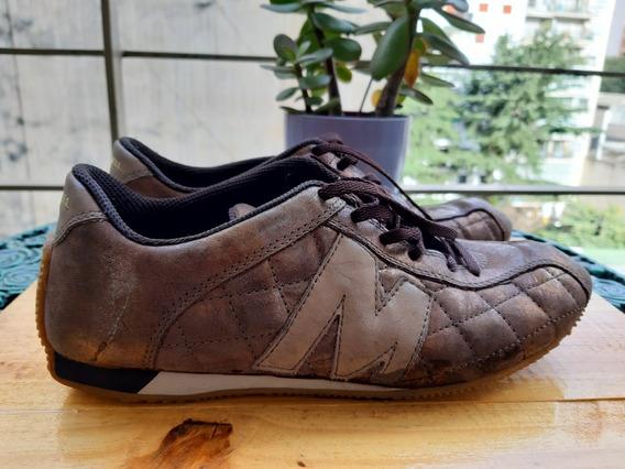 Zapatillas Mujer Merrell Bronce Como Nuevas 37