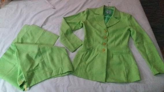 Remato Conjunto De Blazer Y Pantalón Talla 10 (usado)