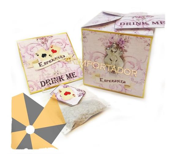 Caja De Te Casamiento Boda Souvenir Personalizado X60