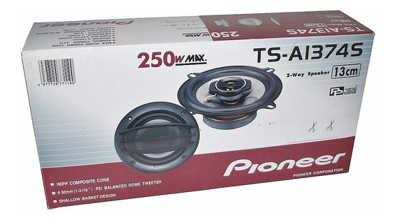 Cornetas Pioneer Ts-a1374s 250w 13cm Sonido Carro Original