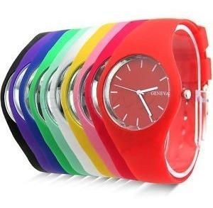 Relógio Feminino Miller E Geneva C/ Pulseira De Silicone