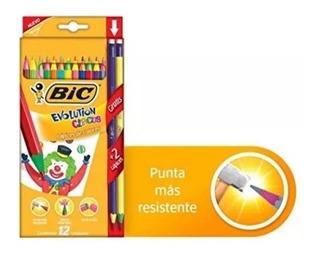 Colores Bic Circus Evolution 12 Colores + 2 Lápices Gratis
