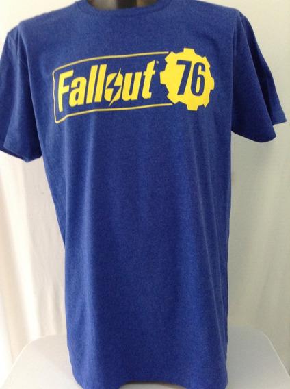 Fallout 76 Logo Bethesda Software Playera Original Hottopic