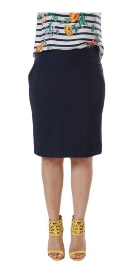 Saia Plus Size Preta Feminina Tam. 50 52 E 54 La Seve 8749.