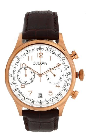 Relógio Masculino Bulova Dress Wb22391b - Dourado/marrom