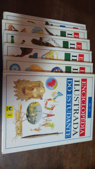 S - Enciclopédia Ilustrada Do Estudante Lote Com 8 Volumes