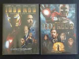 Pack Iron Man 1 Y 2 - Dvds Originales - Marvel - Germanes