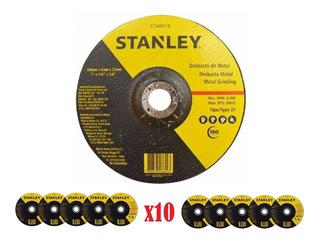 Disco De Desbaste 7´´ Metal Stanley (180x6) Caja X 10und