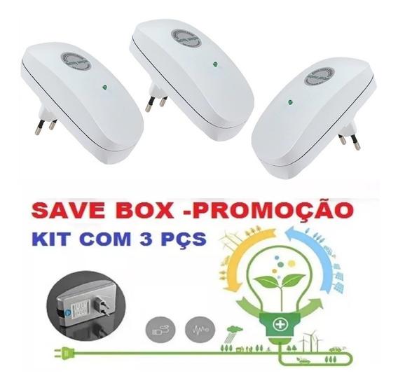 Kit 3 Economize Até 50% De Energia Aparelho Redutor- Ecovolt 3000w 110v 22v Casa Loja